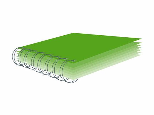 Schema einer Spiralbindung - Druckerei SATZDRUCK