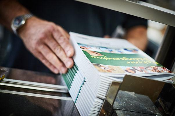 Weiterverarbeitung bei Satzdruck im Münsterland
