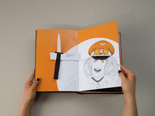 """Masterarbeit """"Blood Orange"""" – Pop-Up Buch mit Laserschnitt und Digitaldruck"""