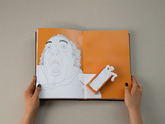Pop-Up Buch mit Laserschnitt und Digitaldruck