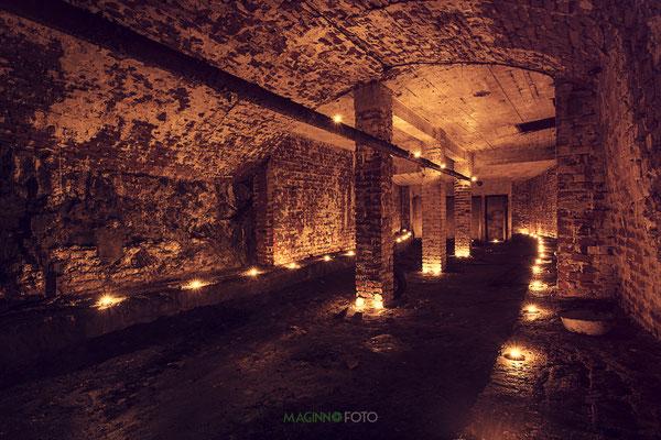 Licht im Bunker
