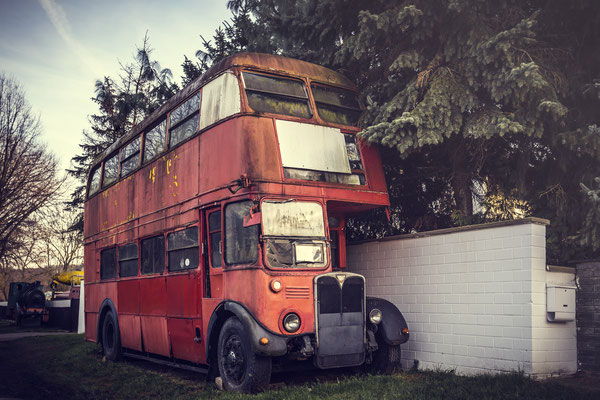 The old red bus,
