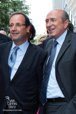 Gérard COLLOMB et François HOLLANDE - Lyon - Juin 2011 - Photo © Anik COUBLE