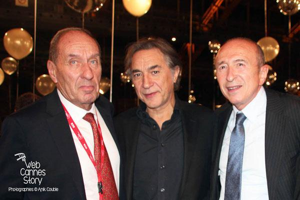 Gérard COLLOMB, Richard BERRI et Max LE FRANCQ- LUMIERE - Festival Lumière 2013 - Lyon - Photo © Anik COUBLE