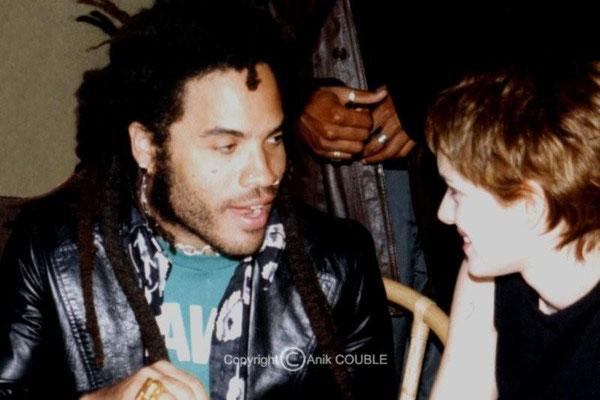 Lenny Kravitz et Winona Rider (quand l'ex de Vanessa Paradis rencontre l'ex de Johnny Depp!!!) / Photo : Anik Couble