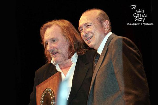 Gérard COLLOMB et Gérard DEPARDIEU - Lyon - Festival Lumière 2011 - Photo © Anik COUBLE