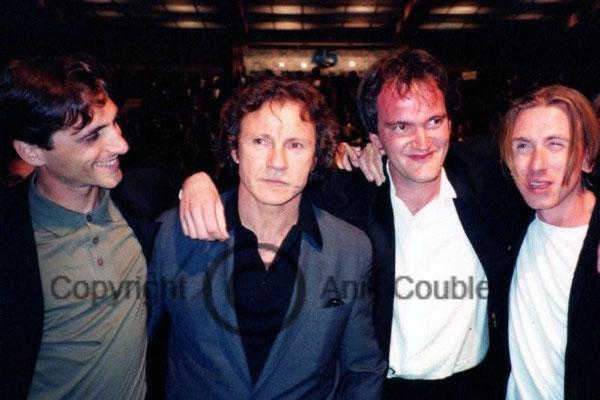 Harvey Keitel, Quentin Tarantino et Tom Roth 1992 / Photo : Anik Couble