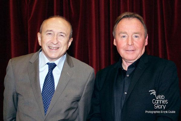 Gérard COLLOMB et Pierre-Jean ZANNETACCI, Maire de l'Arbresle - Lyon - janvier 2011 - Photo © Anik
