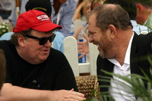 Michael Moore et Harvey Weinstein 2007 / Photo : Anik Couble