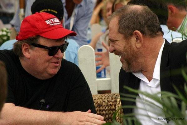 Michael Moore et Harvey Weinstein 2007 / Photo : Anik Couble