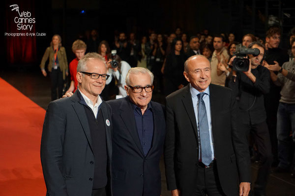 Gérard Collomb, Martin Scorsese et Thierry Frémaux - Festival Lumière - Lyon - Oct 2015 - Photo © Anik COUBLE