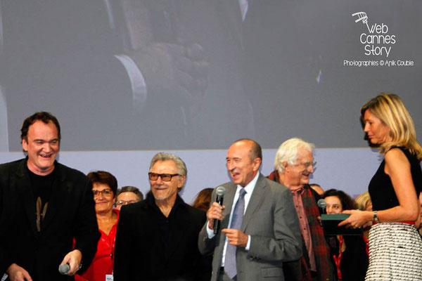 Gérard COLLOMB, Quentin TARANTINO et Havey KEITEL - Festival Lumière 2013 - Lyon - Photo © Anik COUBLE