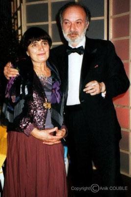 Agnes Varda et Claude Berri 1993 / Photo : Anik Couble