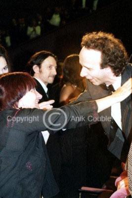 Agnès Varda et Roberto Benigni 1998 / Photo : Anik Couble