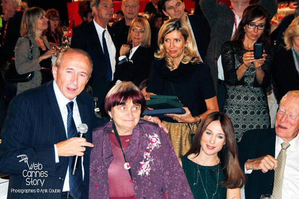 Gérard COLLOMB et Agnès VARDA - Lyon - Festival Lumière 2012 - Photo © Anik COUBLE
