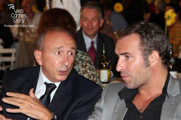 Gérard COLLOMB et Jean DUJARDIN - Lyon - Festival Lumière 2011 - Photo © Anik COUBLE