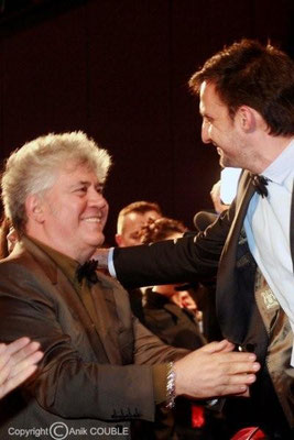 Pédro Almodovar et Alejandro Amenabar 2009 (la relève du cinéma espagnol est assurée !!!)  Photo : Anik Couble