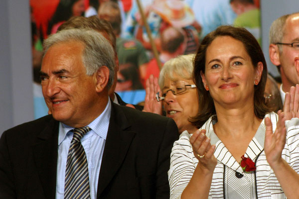 Ségolène Royal et Dominique Strauss-Kahn - Meeting de Lyon - avril  2007 - Photo © Anik Couble