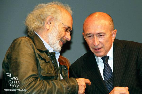 Gérard COLLOMB et Jerry SCHARSBERG - Lyon - Festival Lumière 2012 - Photo © Anik COUBLE