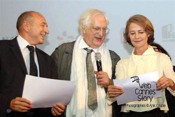 Gérard COLLOMB, Bertrand TAVERNIER et Charlotte RAMPLING - Lyon - Festival Lumière 2011 - Photo © Anik COUBLE