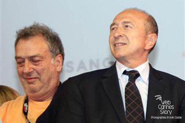 Gérard COLLOMB et Stephen FREARS - Lyon - Festival Lumière 2011 - Photo © Anik COUBLE
