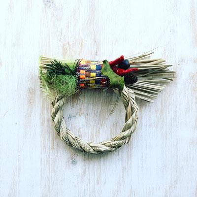 12月 親子ワークショップ『ミニお正月飾り -グリーン-』作り