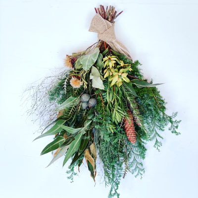 11月 東京 表参道1dayレッスン『フレッシュグリーンのクリスマススワッグ』作り