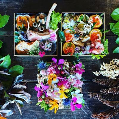 Food&Floweコラボおせち『五感で感じるここにしかないOsechi 3段重』