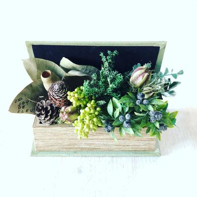 2018年1月 東京 表参道1dayレッスン『Book型インテリアグリーン』作り