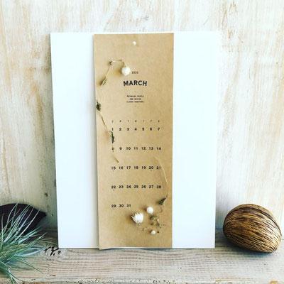 12月  東京 表参道1dayレッスン『植物カレンダー2020年』作り
