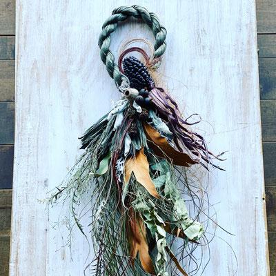 12月1dayレッスン『お正月飾り<植物×カーキ>』作り