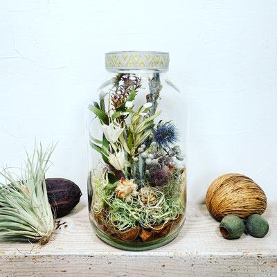 6月1dayレッスン 『Botanicalドライテラリウム』作り
