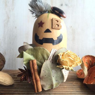 10月 自由が丘ワークショップ『バターナッツかぼちゃのハロウィン飾り』