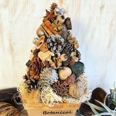 11月 東京 表参道1dayレッスン『木の実のクリスマスツリー』作り