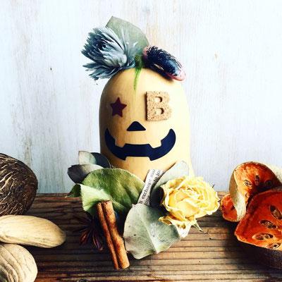 10月 親子 ハロウィンワークショップ『バターナッツかぼちゃのハロウィン飾り』作り