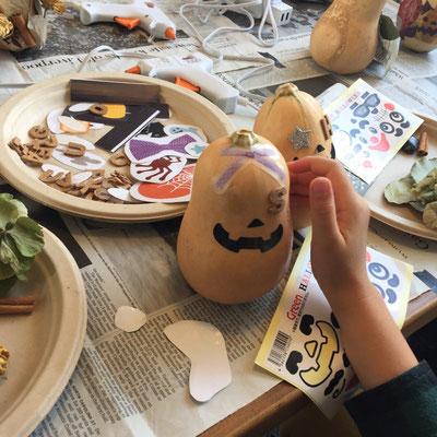 『かぼちゃのハロウィン飾り』作り/ハロウィンワークショップ