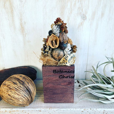 12月 東京 クリスマスワークショップ『木の実のミニクリスマスツリー』作り