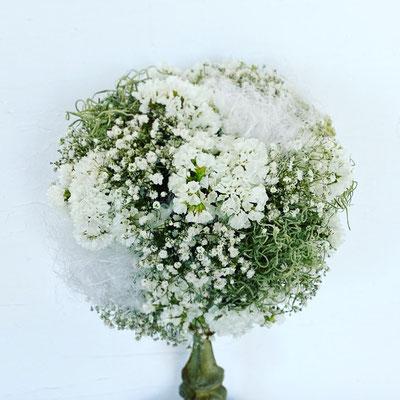 5月1dayレッスン『ボールリース〈ホワイト×グリーン〉』作り