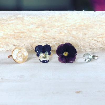 『お花のアクセサリー作り』ワークショップ