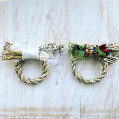 12月 親子ワークショップ『ミニお正月飾り ホワイトorグリーン』作り