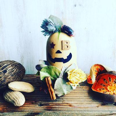 「バターナッツかぼちゃのハロウィン飾り」作り