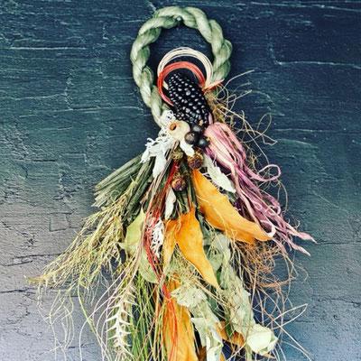 12月 1dayレッスン『お正月飾り<植物×カーキ>』作り