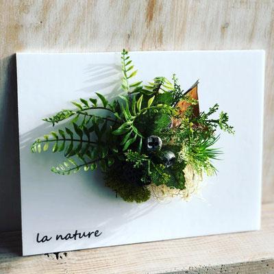 4月 長野 飯田1dayレッスン『壁掛けインテリアグリーン』作り
