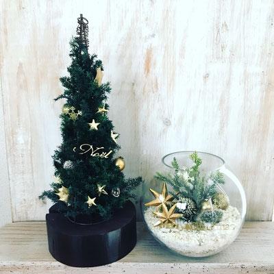 『クリスマスツリー』& 11月 東京 表参道1dayレッスン『クリスマス テラリウム』