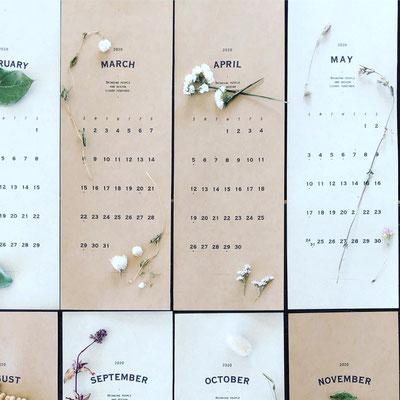 12月 長野 飯田1dayレッスン『植物カレンダー2020年』作り