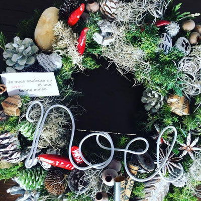 「フレッシュグリーンのクリスマスリース」表参道タウンデザインカフェ ワークショップ