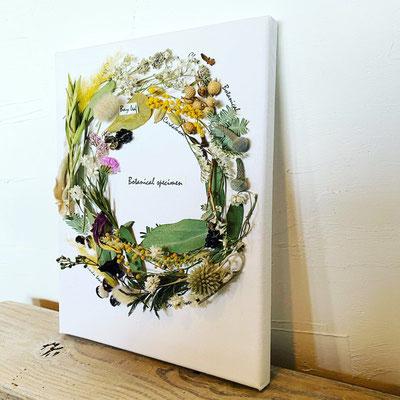4月 長野 飯田1dayレッスン『リースのかたちの植物標本』作り