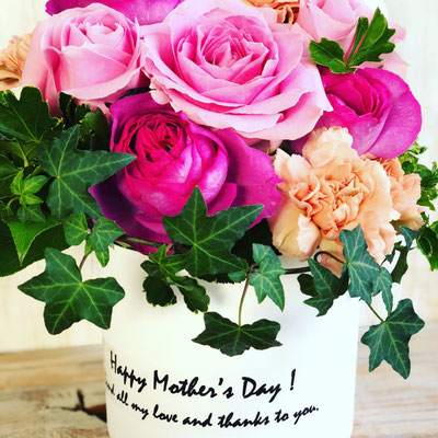 母の日ギフト2018 「ピンクローズのフラワーBox」