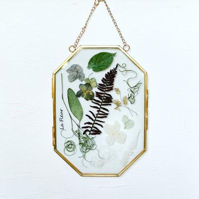 5月 オンラインレッスン『植物のインテリアフレーム』作り