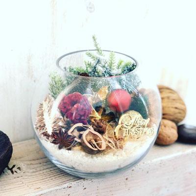11月 長野 飯田1dayレッスン『クリスマステラリウム』作り